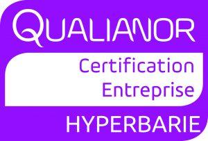 Nous avons obtenu la certification des entreprises réalisant des travaux hyperbares mention A