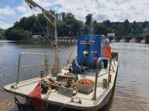 Travaux de dévasage au barrage Edf de la Roche qui Boit