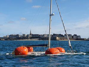 Renflouage d'un voilier Westerly à Saint-Malo